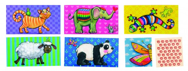 Puzzle + Memospiel Tiere