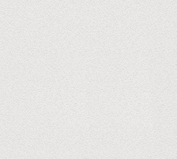 A.S. Création, Simply White 4, # 666413, Papiertapete, uni, Weiß