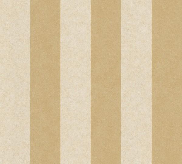 A.S. Création, Versace 2, # 962175, Vliestapete, Streifen, Beige Gelb Metallic, 10,05 m x 0,70 m