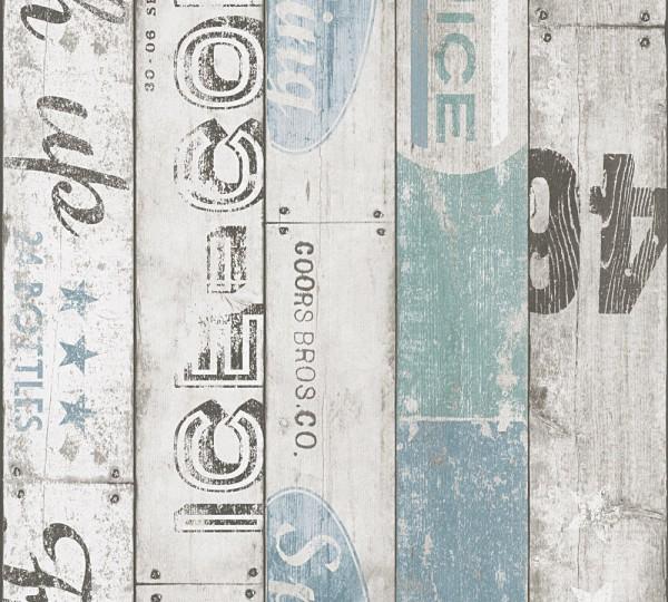 A.S. Création, Boys & Girls 6, # 959503, Papiertapete, Beige Blau Grau