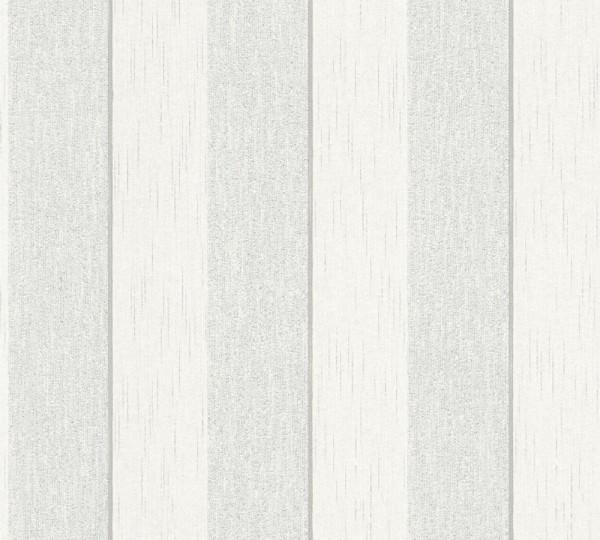 A.S. Création, Tessuto 2, # 961941, Vliestapete, Grau Weiß