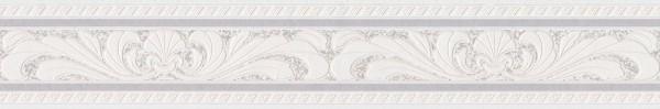 A.S. Création, Only Borders 10, # 681614, Borte aus Papier, Creme Grau Weiß, 5m x 0,10m