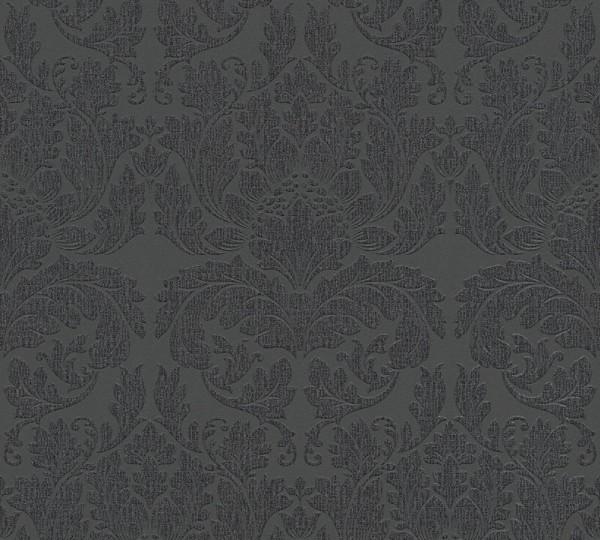 A.S. Création, Best of Vlies, # 303965, Vliestapete, Metallic Schwarz