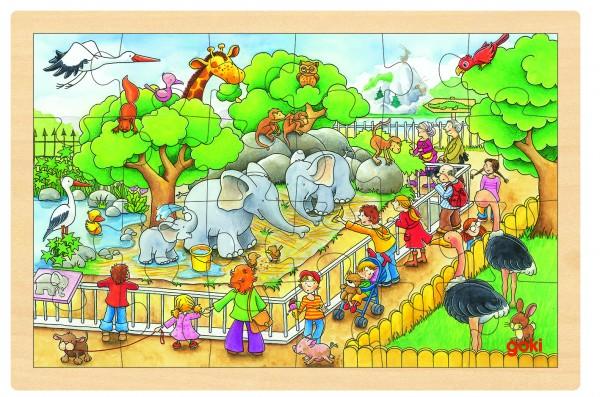 Einlegepuzzle Zoobesuch