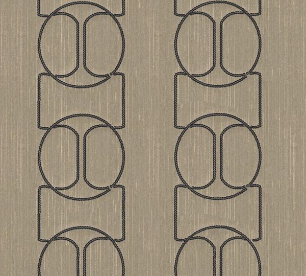 A.S. Création, Wall Fashion, # 306134, Vliestapete, Creme Metallic, 3,20 m x 0,53 m