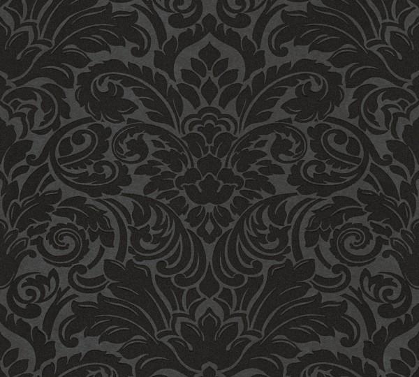 A.S. Création, Luxury wallpaper, # 305455, Vliestapete, Schwarz Metallic