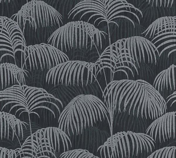 A.S. Création, Tessuto 2, # 961984, Vliestapete, Grau Schwarz