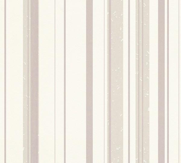 A.S. Création, New Look, # 327692, Vliestapete, Streifen, Beige Creme