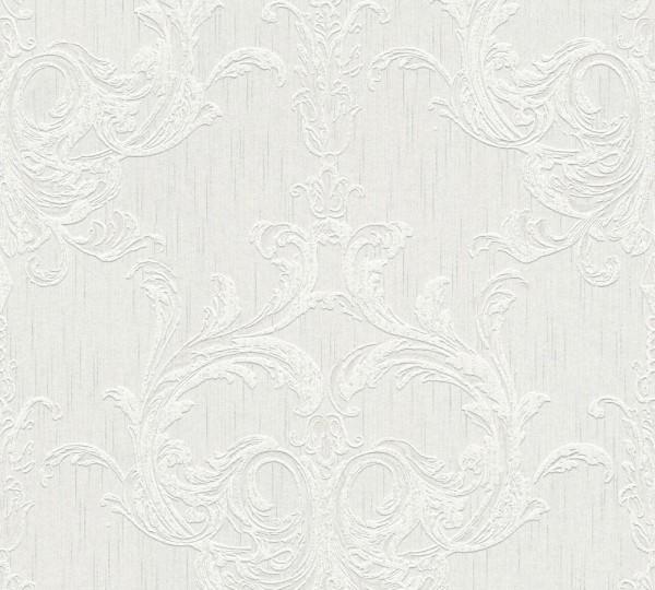 A.S. Création, Tessuto 2, # 961961, Vliestapete, Grau Weiß