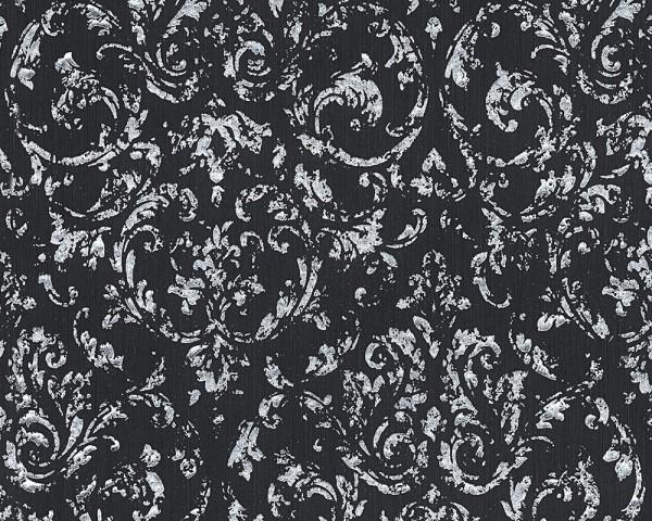 A.S. Création, Metallic Silk, # 306606, Vliestapete, Anthrazit - Grau, Metallic