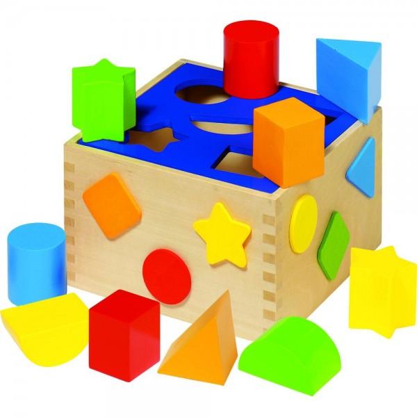 GOKI Sort Box 16 x 16 x 10 cm (Box), Holz, 10 Klötze, per Stück