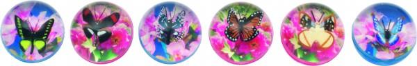 Flummy mit 3D Schmetterlinge