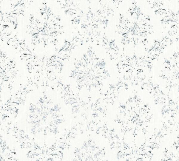 A.S. Création, Metallic Silk, # 306621, Vliestapete, Weiß Metallic