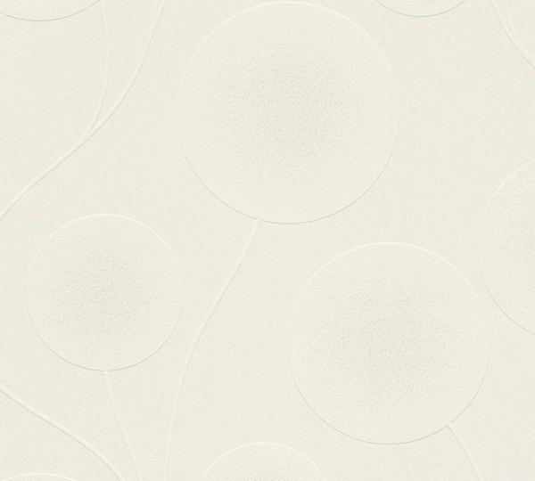 A.S. Création, Simply White 4, # 305471, Vliestapete, Metallic Weiß