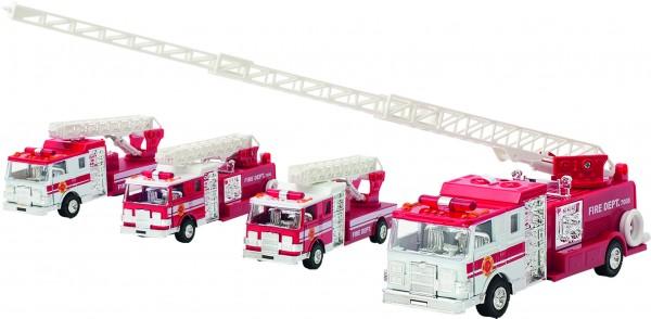 Feuerwehr mit Licht und Geräusch, Spritzguss, L= 17,5 cm